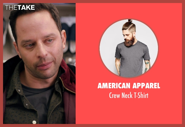 American Apparel gray t-shirt from Adult Beginners seen with Nick Kroll (Jake)