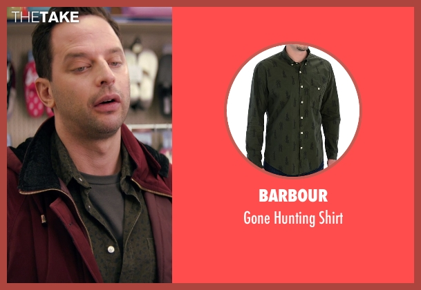 Barbour green shirt from Adult Beginners seen with Nick Kroll (Jake)