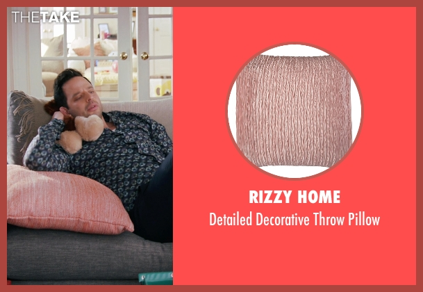 Rizzy Home pillow from Adult Beginners seen with Nick Kroll (Jake)