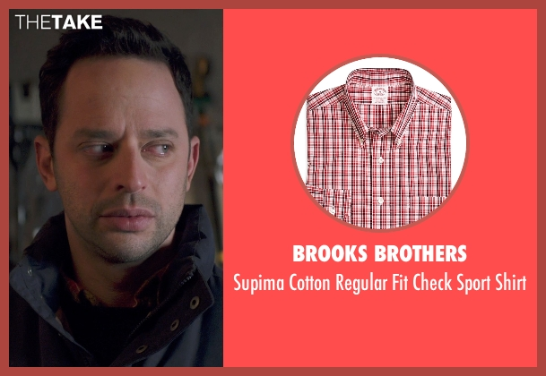 Brooks Brothers red shirt from Adult Beginners seen with Nick Kroll (Jake)