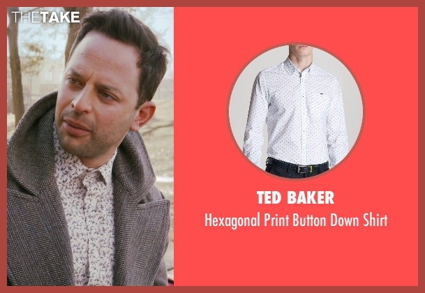 Ted Baker white shirt from Adult Beginners seen with Nick Kroll (Jake)