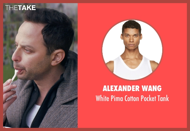 Alexander Wang white tank from Adult Beginners seen with Nick Kroll (Jake)