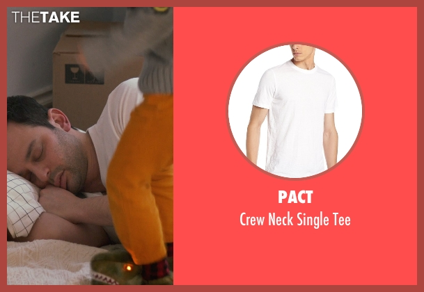 Pact white tee from Adult Beginners seen with Nick Kroll (Jake)