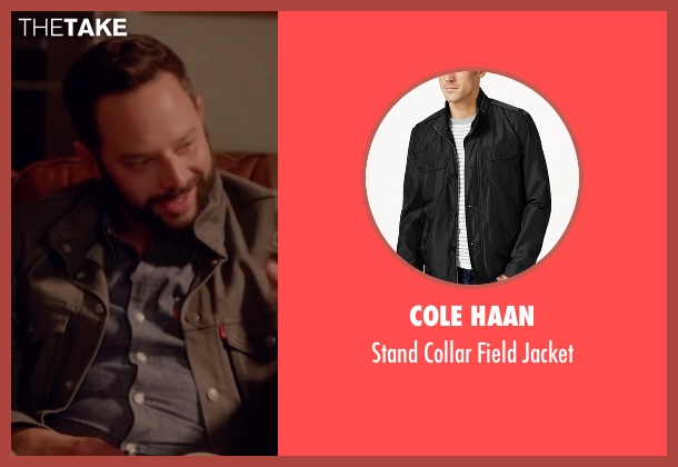 Cole Haan black jacket from Joshy seen with Nick Kroll (Eric)