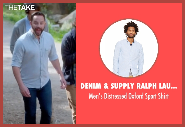 Denim & Supply Ralph Lauren blue shirt from Joshy seen with Nick Kroll (Eric)