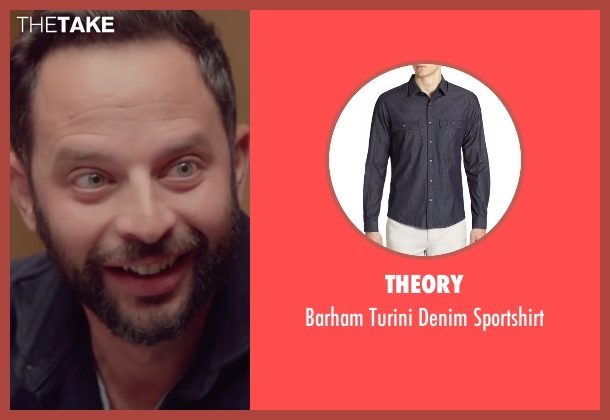 Theory blue sportshirt from Joshy seen with Nick Kroll (Eric)