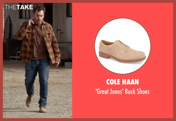 Cole Haan beige shoes from New Girl seen with Nick Miller (Jake Johnson)
