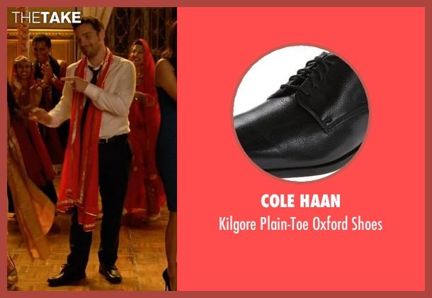 Cole Haan black shoes from New Girl seen with Nick Miller (Jake Johnson)
