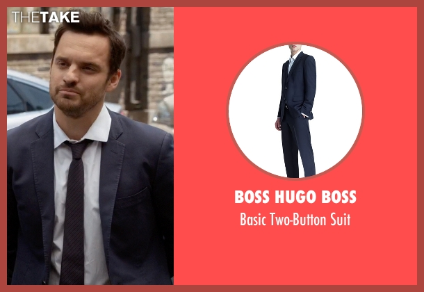 Boss Hugo Boss blue suit from New Girl seen with Nick Miller (Jake Johnson)