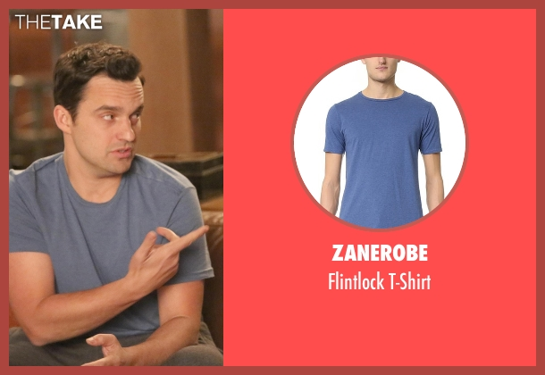 Zanerobe blue t-shirt from New Girl seen with Nick Miller (Jake Johnson)