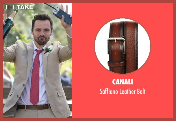 Canali brown belt from New Girl seen with Nick Miller (Jake Johnson)