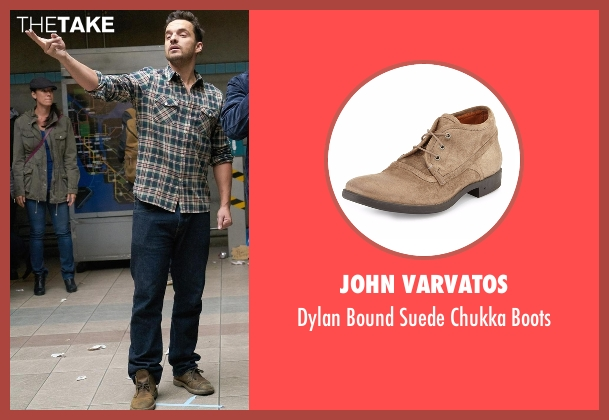 John Varvatos brown boots from New Girl seen with Nick Miller (Jake Johnson)