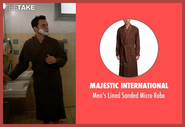Majestic International brown robe from New Girl seen with Nick Miller (Jake Johnson)