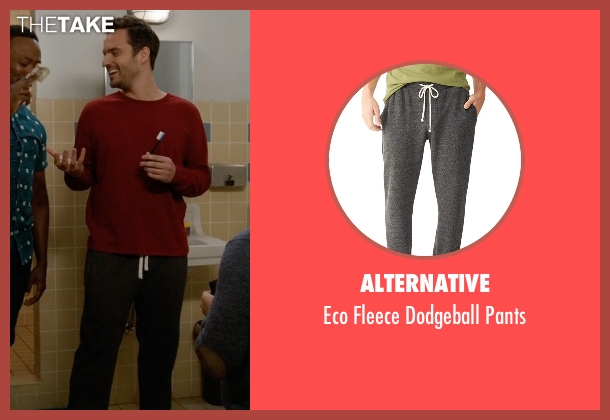 Alternative gray pants from New Girl seen with Nick Miller (Jake Johnson)