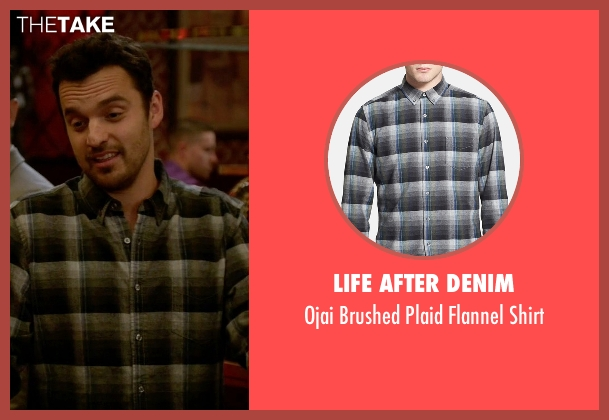 Life After Denim gray shirt from New Girl seen with Nick Miller (Jake Johnson)