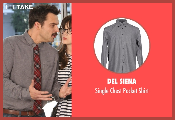 Del Siena gray shirt from New Girl seen with Nick Miller (Jake Johnson)