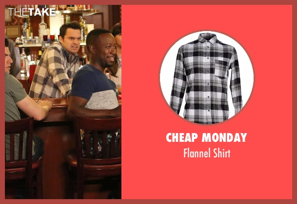 Cheap Monday gray shirt from New Girl seen with Nick Miller (Jake Johnson)