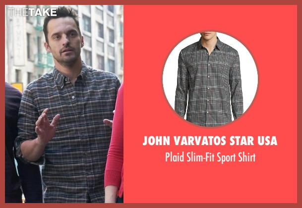John Varvatos Star USA gray shirt from New Girl seen with Nick Miller (Jake Johnson)