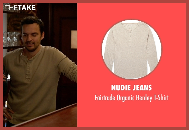 Nudie Jeans gray t-shirt from New Girl seen with Nick Miller (Jake Johnson)
