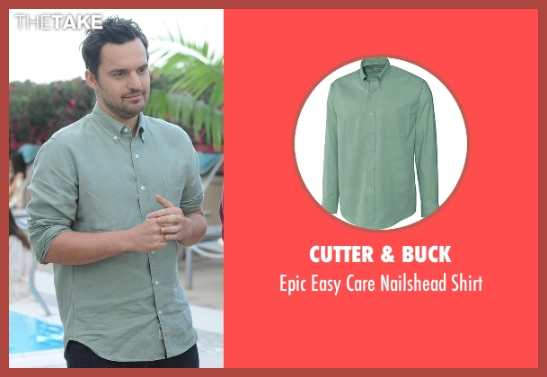 Cutter & Buck green shirt from New Girl seen with Nick Miller (Jake Johnson)