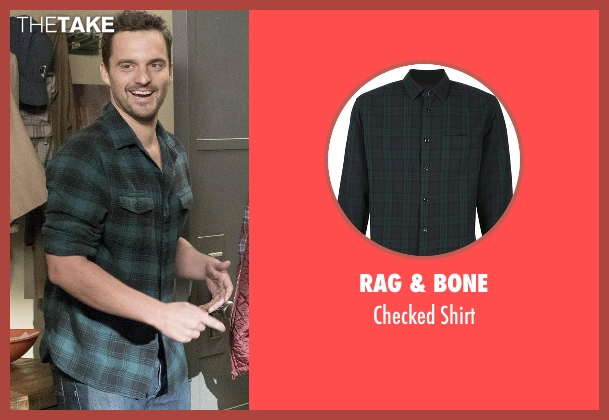 Rag & Bone green shirt from New Girl seen with Nick Miller (Jake Johnson)