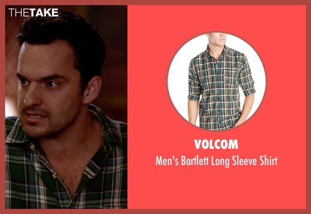 Volcom green shirt from New Girl seen with Nick Miller (Jake Johnson)