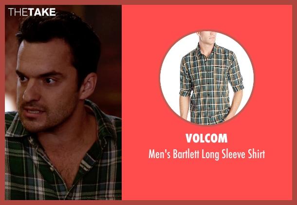 Volcom  green shirt from New Girl seen with Nick Miller (Jake Johnson)