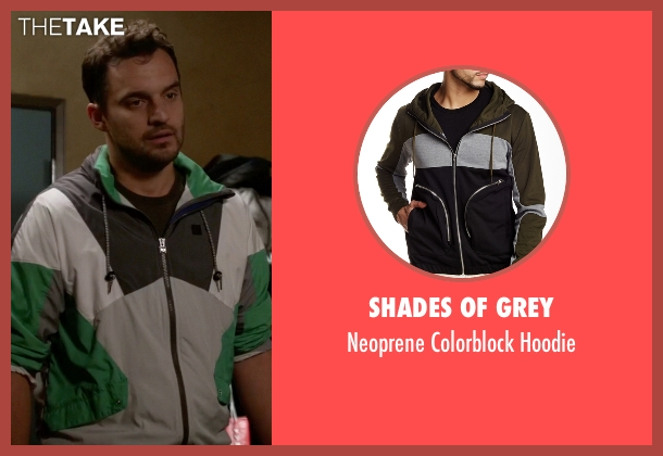 Shades Of Grey hoodie from New Girl seen with Nick Miller (Jake Johnson)