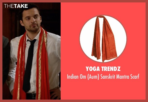 Yoga Trendz orange scarf from New Girl seen with Nick Miller (Jake Johnson)
