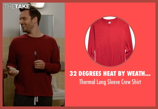 32 Degrees Heat By Weatherproof red shirt from New Girl seen with Nick Miller (Jake Johnson)