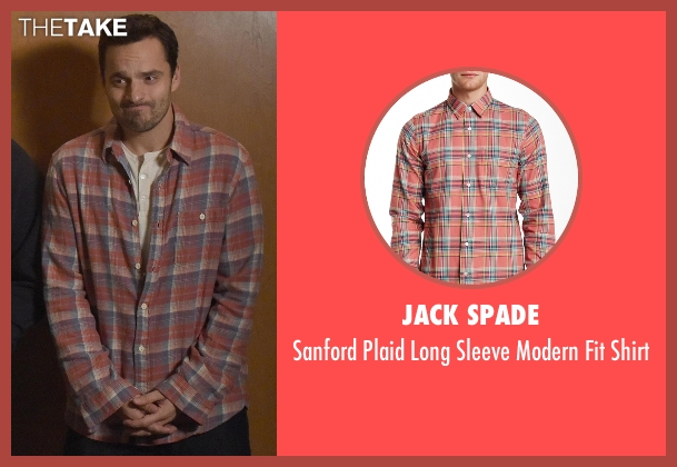 Jack Spade red shirt from New Girl seen with Nick Miller (Jake Johnson)