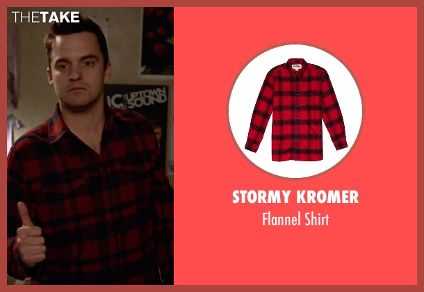 Stormy Kromer red shirt from New Girl seen with Nick Miller (Jake Johnson)