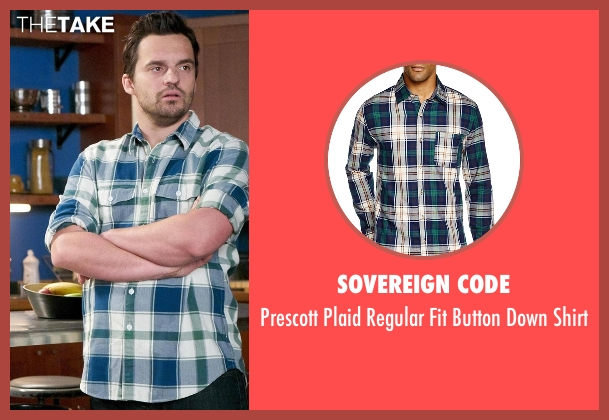 Sovereign Code shirt from New Girl seen with Nick Miller (Jake Johnson)