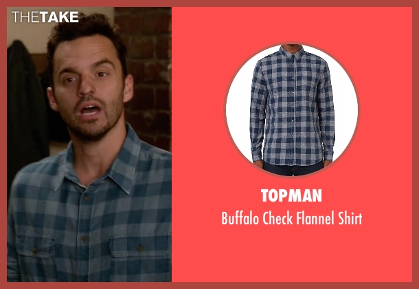 Topman shirt from New Girl seen with Nick Miller (Jake Johnson)