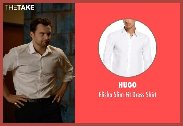 Hugo white shirt from New Girl seen with Nick Miller (Jake Johnson)