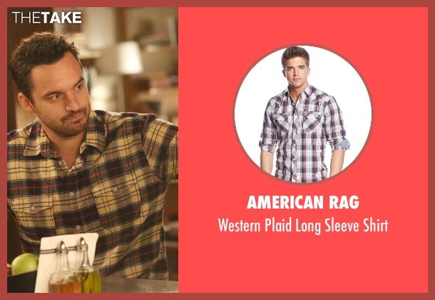 American Rag white shirt from New Girl seen with Nick Miller (Jake Johnson)