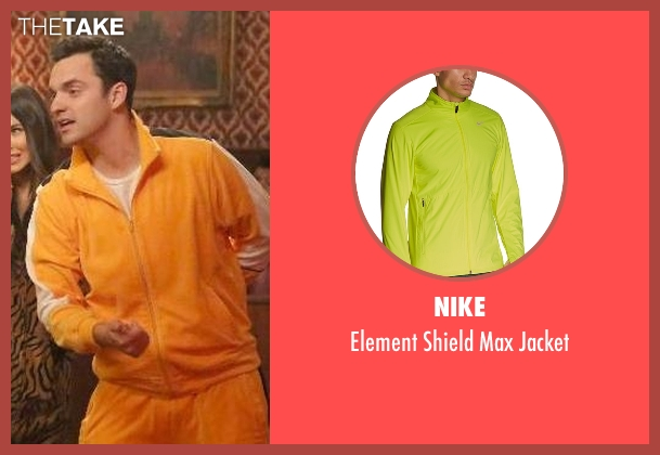 Nike yellow jacket from New Girl seen with Nick Miller (Jake Johnson)