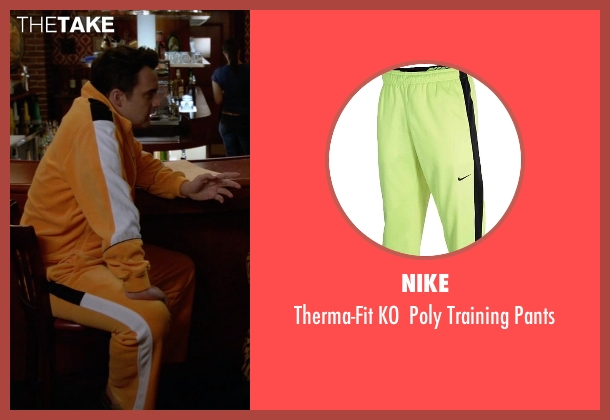 Nike yellow pants from New Girl seen with Nick Miller (Jake Johnson)