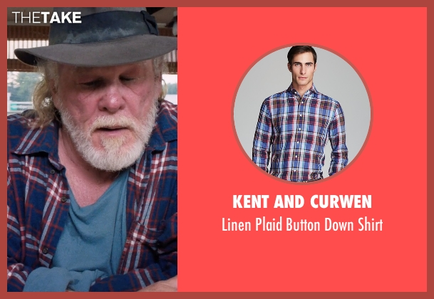 Kent and Curwen blue shirt from A Walk in the Woods seen with Nick Nolte (Katz)