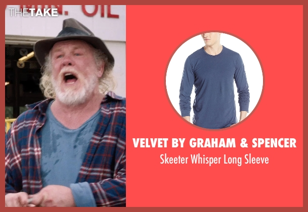 Velvet by Graham & Spencer blue sleeve from A Walk in the Woods seen with Nick Nolte (Katz)