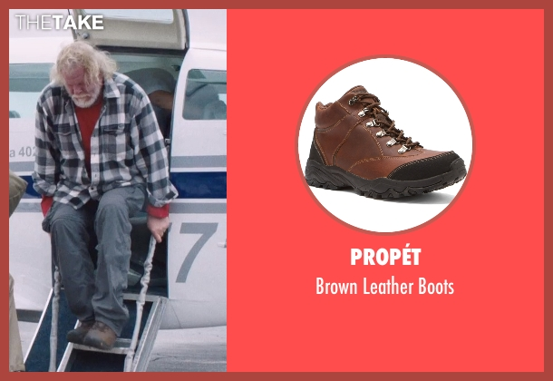 Propét brown boots from A Walk in the Woods seen with Nick Nolte (Katz)