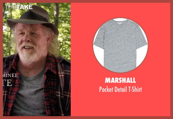 Marshall gray t-shirt from A Walk in the Woods seen with Nick Nolte (Katz)