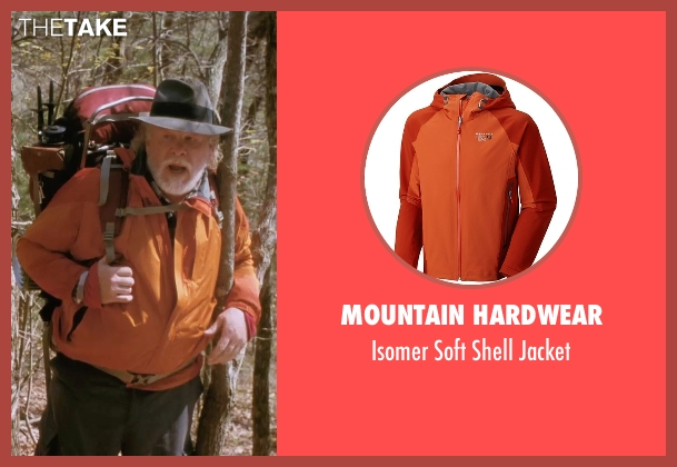 Mountain Hardwear orange jacket from A Walk in the Woods seen with Nick Nolte (Katz)