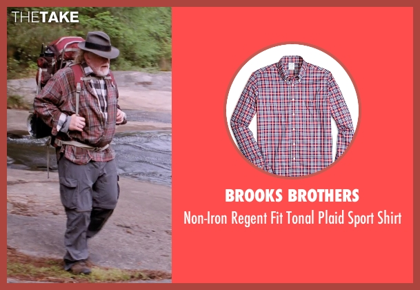 Brooks Brothers red shirt from A Walk in the Woods seen with Nick Nolte (Katz)