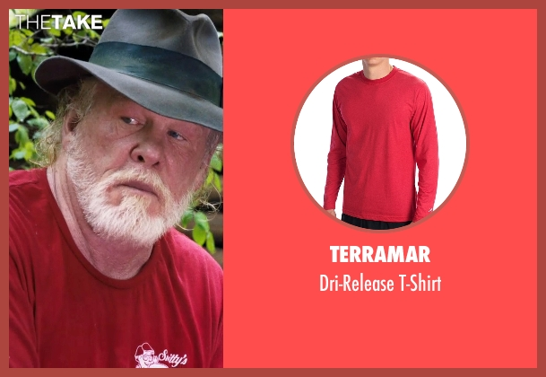 Terramar red t-shirt from A Walk in the Woods seen with Nick Nolte (Katz)