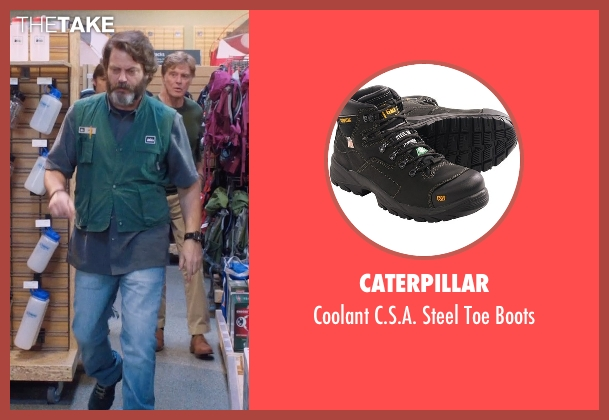 Caterpillar black boots from A Walk in the Woods seen with Nick Offerman (Unknown Character)