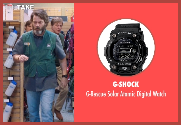 G-Shock black watch from A Walk in the Woods seen with Nick Offerman (Unknown Character)