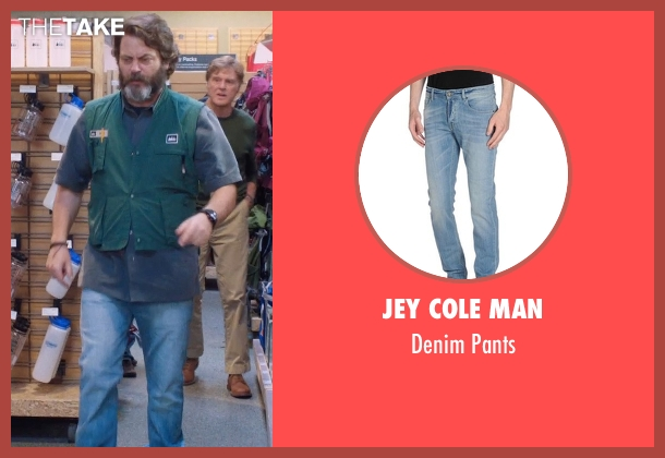 Jey Cole Man blue pants from A Walk in the Woods seen with Nick Offerman (Unknown Character)
