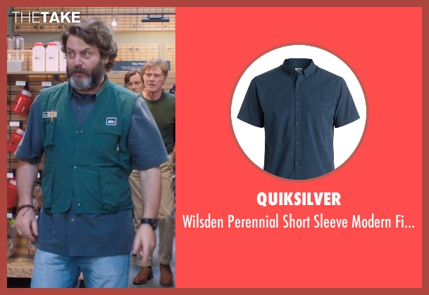 Quiksilver blue shirt from A Walk in the Woods seen with Nick Offerman (Unknown Character)