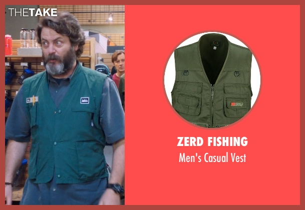 Zerd Fishing vest from A Walk in the Woods seen with Nick Offerman (Unknown Character)